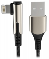кабель для iPhone Rock M1 Lightning Zn-alloy Braided Charge & Sync Cable 1м